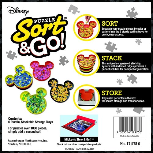 Ravensburger MICKEY MOUSE SORT & GO! PUZZLE TRAYS