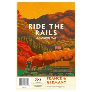 Capstone Games RIDE THE RAILS: FRANCE & GERMANY MAP