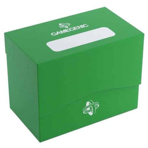 GAMEGENIC DECK BOX: SIDE HOLDER 80+ GREEN