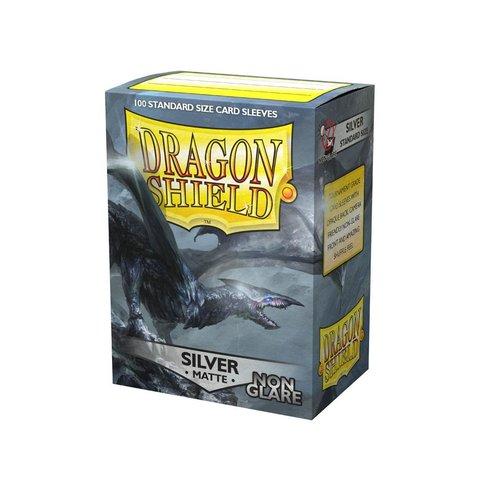 Arcane Tinmen DECK PROTECTOR: DRAGON SHIELDS: NON-GLARE SILVER (100)