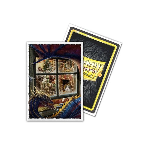 Arcane Tinmen DECK PROTECTOR: DRAGON SHIELDS: ART - CHRISTMAS DRAGON