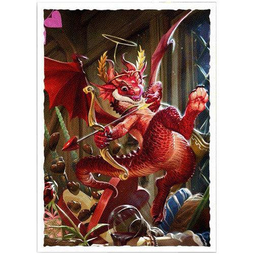Arcane Tinmen DECK PROTECTOR: DRAGON SHIELDS: ART MATTE - VALENTINE DRAGON (100)