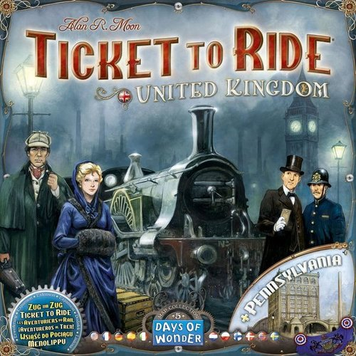 Days of Wonder TICKET TO RIDE: UNITED KINGDOM & PENNSYLVANIA MAP COLLECTION 5
