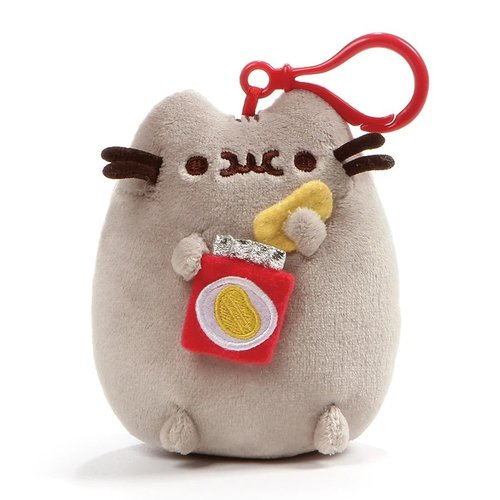 "Gund PUSHEEN POTATO CHIPS 5"" CLIP/KEYCHAIN"
