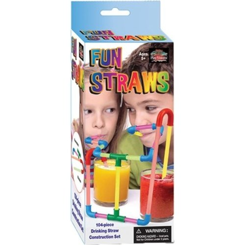 PLAY VISIONS FUN STRAWS (104pc)