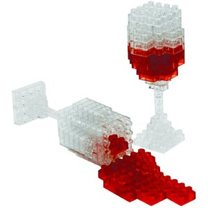 UNIVERSITY GAMES 3D PIXEL MINI SPILLED WINE