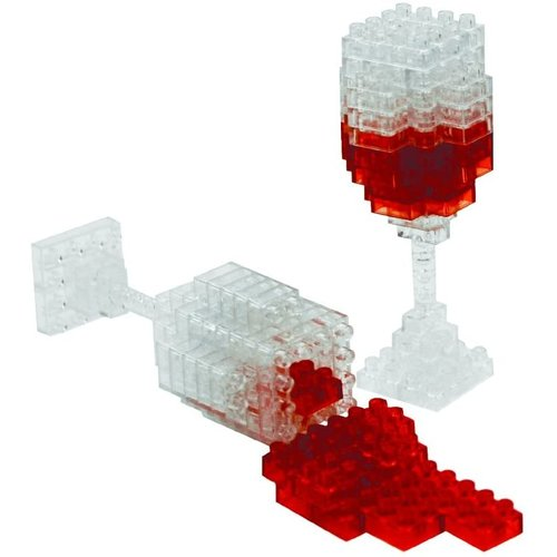 UNIVERSITY GAMES 3D PIXEL MINI SPILLED WINE