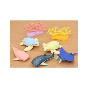 SCHYLLING ERASERS SEA ANIMALS