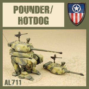 DUST USA DUST 1947 ALLIES POUNDER/HOTDOG