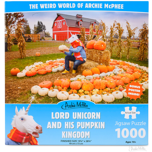 Archie McPhee AM1000 LORD UNICORN & HIS PUMPKIN KINGDOM
