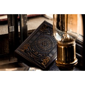 THEORY11 THEORY 11 HUDSON BLACK PLAYING CARDS