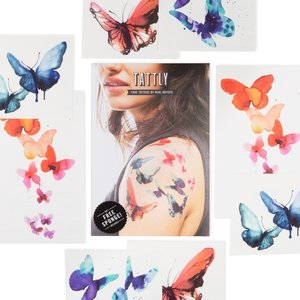 TATTLY TATTOOS: WATERCOLOR BUTTERFLIES
