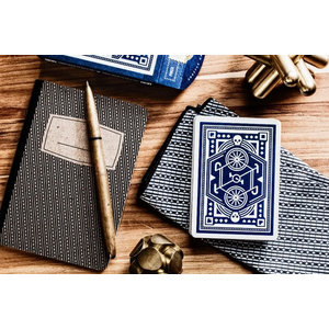 ART OF PLAY DKNG BLUE WHEEL PLAYING CARDS
