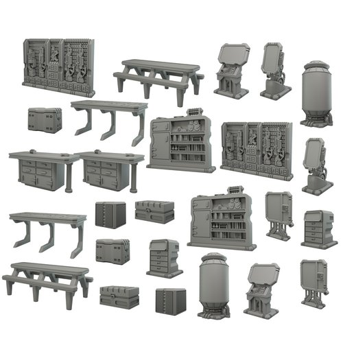 Mantic Entertainment LTD. TERRAIN CRATE: STARSHIP SCENERY