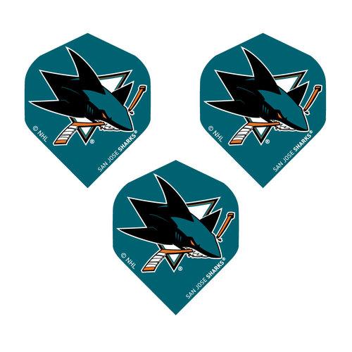 DART WORLD FLIGHT NHL SAN JOSE SHARKS (Set of 3)