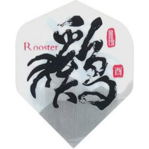 MAGIC/A-Z DARTS FLIGHT CHINESE ZODIAC ROOSTER (Set of 3)