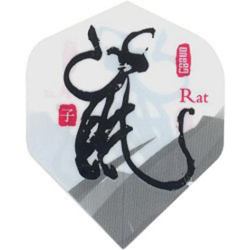 MAGIC/A-Z DARTS FLIGHT CHINESE ZODIAC RAT (Set of 3)