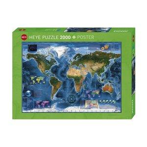 Heye HY2000 SATELLITE WORLD MAP