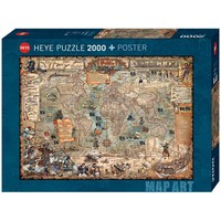 HY2000 PIRATE WORLD MAP