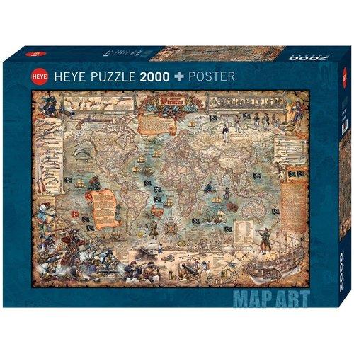 Heye HY2000 PIRATE WORLD MAP