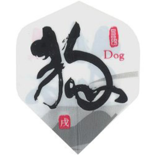 MAGIC/A-Z DARTS FLIGHT CHINESE ZODIAC DOG (Set of 3)