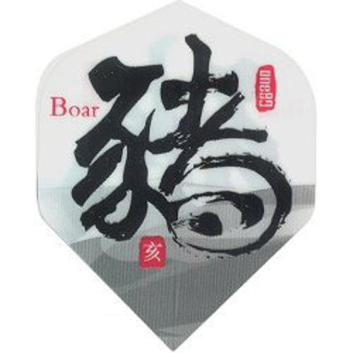 MAGIC/A-Z DARTS FLIGHT CHINESE ZODIAC BOAR (Set of 3)