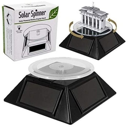"FASCINATIONS TOYS SOLAR SPINNER, LOW LIGHT 3.25"" PLATFORM"