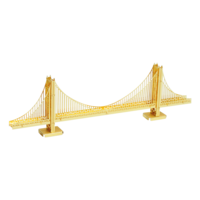 3D METAL EARTH GOLDEN GATE BRIDGE (GOLD)