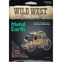3D METAL EARTH WILD WEST STAGECOACH