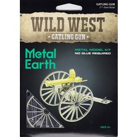3D METAL EARTH WILD WEST GATLING GUN