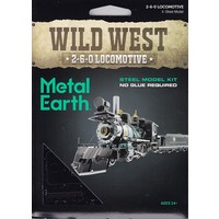 3D METAL EARTH WILD WEST 2-6-0 LOCOMOTIVE
