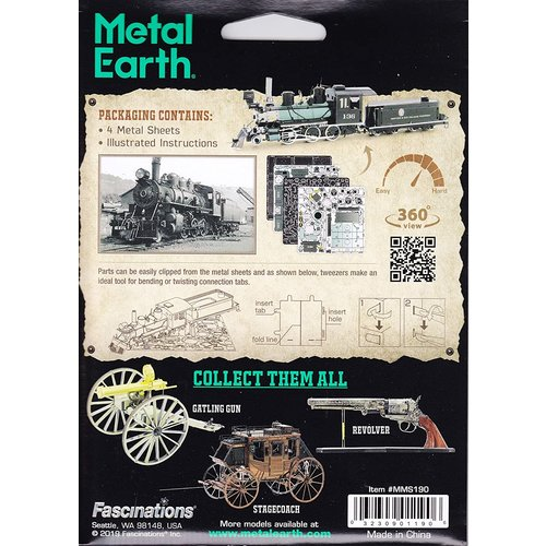 Metal Earth 3D METAL EARTH WILD WEST 2-6-0 LOCOMOTIVE
