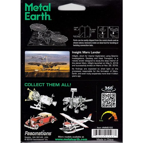 Metal Earth 3D METAL EARTH INSIGHT MARS LANDER