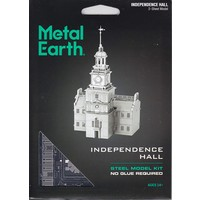 3D METAL EARTH INDEPENDENCE HALL