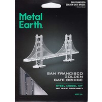 3D METAL EARTH GOLDEN GATE BRIDGE (SILVER)