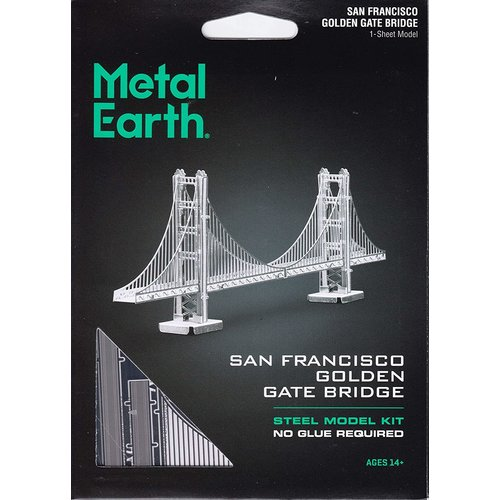 Metal Earth 3D METAL EARTH GOLDEN GATE (SILVER)