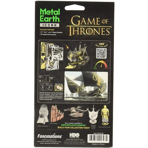 Metal Earth 3D METAL EARTH GAME OF THRONES THE SILENCE