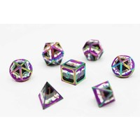 DICE FOR ALL SET 7 METAL ASEXUAL PRIDE w/ ENAMEL PIN