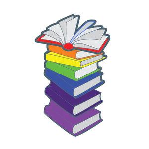 Foam Brain Games PIN - BOOKS LGBTQIA+ PRIDE RAINBOW