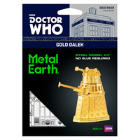 3D METAL EARTH DR WHO GOLD DALEK
