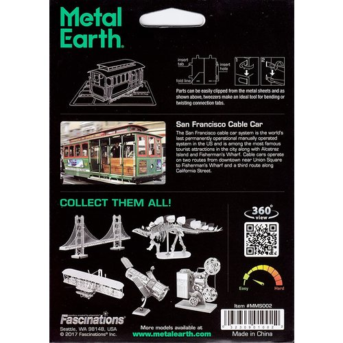 Metal Earth 3D METAL EARTH CABLE CAR
