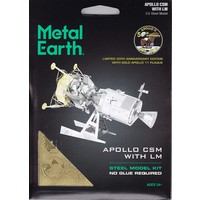 3D METAL EARTH APOLLO CSM W/ LM