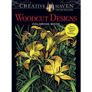DOVER PUBLICATIONS WOODCUT DESIGNS COLORING BOOK