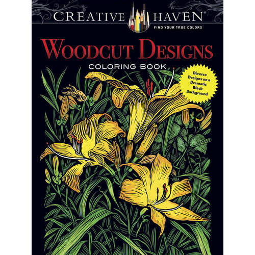 DOVER PUBLICATIONS WOODCUT DESIGNS COLORING BOOK