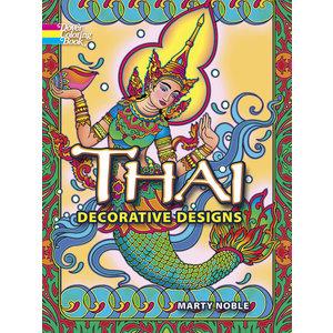 DOVER PUBLICATIONS THAI DECORATIVE DESIGNS COLORING BOOK