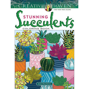 DOVER PUBLICATIONS COLORING BOOK: STUNNING SUCCULENTS
