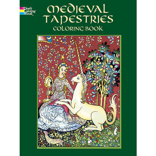 DOVER PUBLICATIONS COLORING BOOK: MEDIEVAL TAPESTRIES