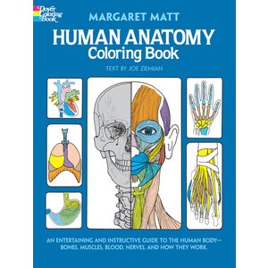 DOVER PUBLICATIONS COLORING BOOK: HUMAN ANATOMY - AN ENTERTAINING & INSTRUCTIVE GUIDE TO THE HUMAN BODY