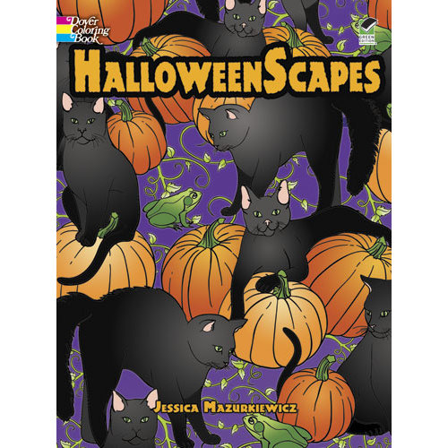 DOVER PUBLICATIONS COLORING BOOK: HALLOWEENSCAPES