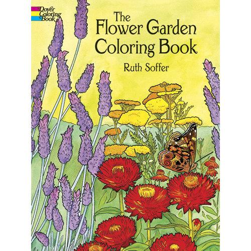 DOVER PUBLICATIONS COLORING BOOK: FLOWER GARDEN